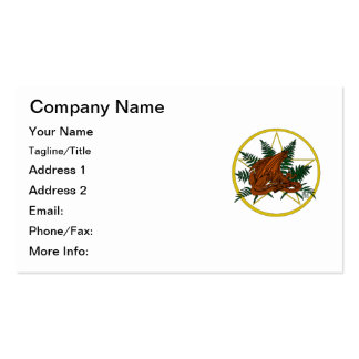 Brown and Orange Dragon With Fern and Pentacle Pack Of Standard Business Cards