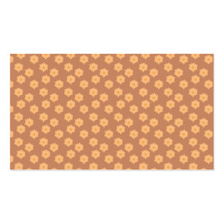 Brown and Orange Floral Pattern Business Card