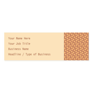 Brown and Orange Floral Pattern. Pack Of Skinny Business Cards