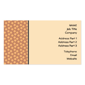 Brown and Orange Floral Pattern. Pack Of Standard Business Cards