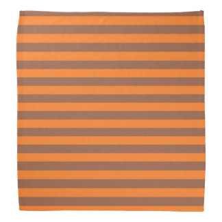 Brown and Orange Stripes Bandana