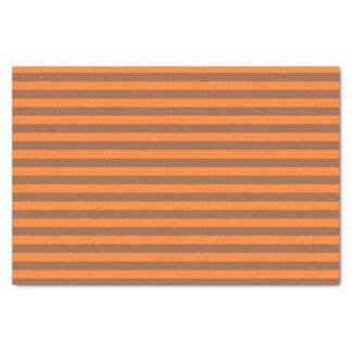 Brown and Orange Stripes Tissue Paper