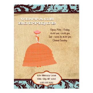 Brown and Orange Vintage Dress Boutique Business 21.5 Cm X 28 Cm Flyer