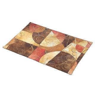 Brown and Pink Abstract Painting Placemats