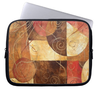 Brown and Pink Abstract Painting Computer Sleeves