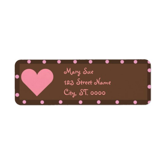 Brown and Pink Address Labels