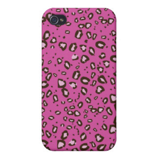 brown and pink cheetah iPhone 4/4S cover