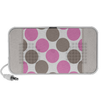 Brown And Pink Dots iPod Speakers