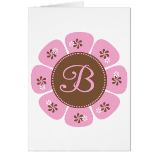 Brown and Pink Monogram B Cards