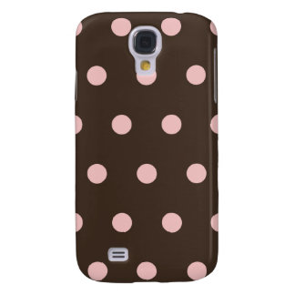 Brown and Pink Polka Dots  Galaxy S4 Case