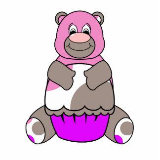 Brown And Pink Polkadot Bear Cut Outs