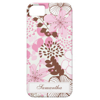 Brown and Pink Spring Garden Barely There iPhone 5 Case