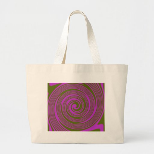 Brown and Pink Swirls Bags