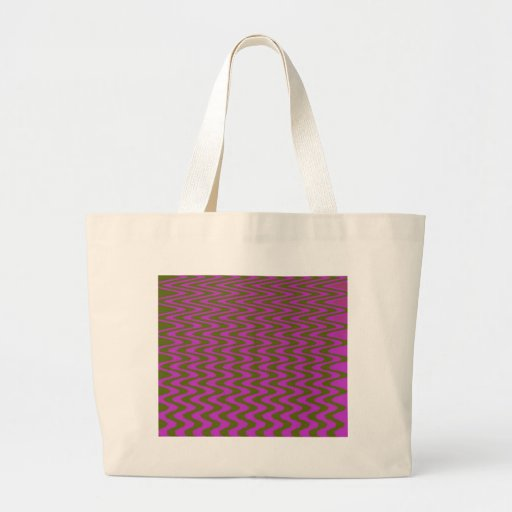 Brown and Pink Wave Pattern Tote Bags