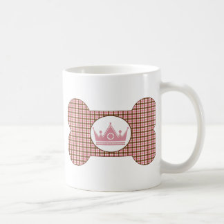 Brown and Pink with Pink Crown.png Basic White Mug