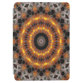 Brown And Purple Abstract Concentric Pattern iPad Air Cover