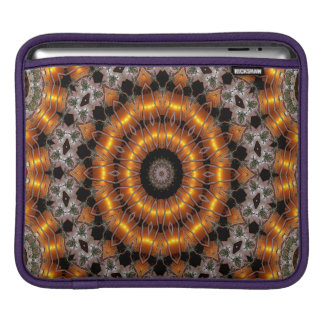 Brown And Purple Abstract Concentric Pattern Sleeve For iPads