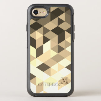 Brown And Sepia Geometric Shapes OtterBox Symmetry iPhone 8/7 Case