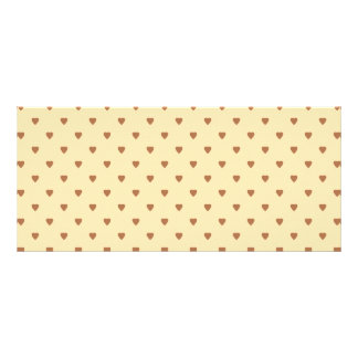 Brown and tan - beige heart pattern. full color rack card