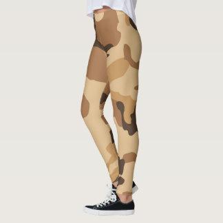 Brown and Tan Camo Leggings