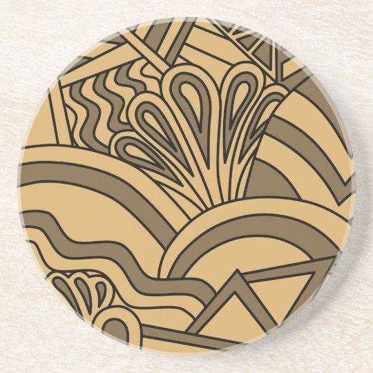 Brown and Tan Colour Art Deco Style Design.