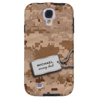 Brown and Tan Desert Digital Camo Galaxy S4 Case