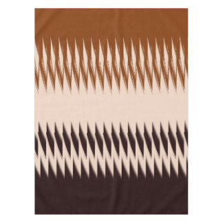 Brown and Tan Design Tablecloth