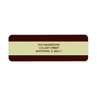Brown and Tan Return Address Label