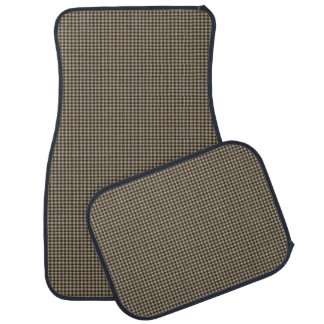 Brown and Tan Small Check Tailored Car Mats Floor Mat