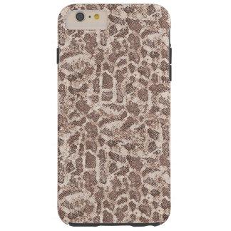 Brown and Tan Snake Skin Tough iPhone 6 Plus Case
