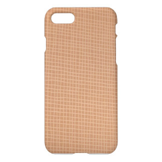 Brown and Tan Squares Masculine iPhone 8/7 Case