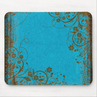 Brown And Teal Mouse Mat