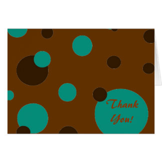"brown and turquoise ""Thank You"" note cards"