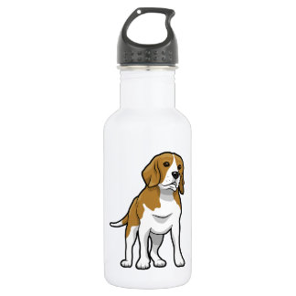 Brown and White Beagle 532 Ml Water Bottle