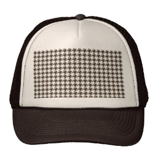 Brown And White Combination Houndstooth Cap