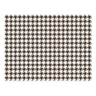 Brown And White Combination Houndstooth Postcard
