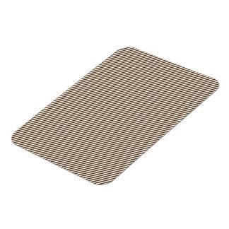 Brown and White Diagonal Stripes Rectangular Photo Magnet