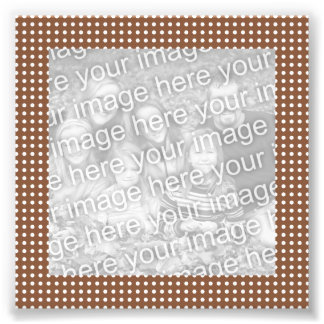 Brown and White Dots Frame Photo