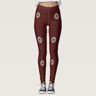 Brown and White Egg and Sperm Design Leggings