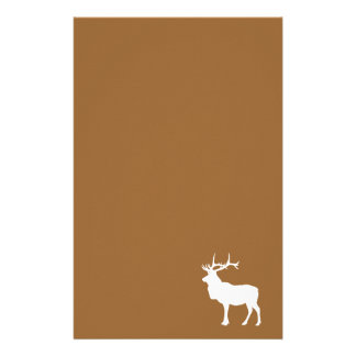 Brown and White Elk Stationery