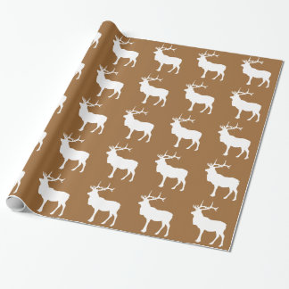 Brown and White Elk Wrapping Paper