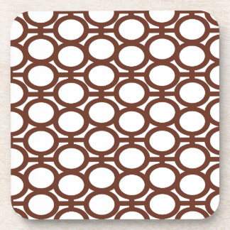 Brown and White Eyelets Drink Coasters