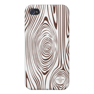 Brown and White Faux Bois iPhone Case