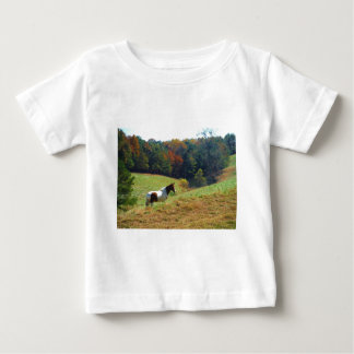 Brown and white horse by autumn trees infant T-Shirt