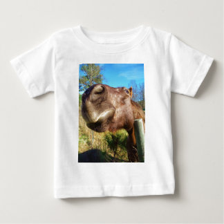 Brown and white horse  smile t-shirts
