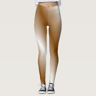Brown and White Leggings