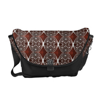 Brown And White Mosaic Pattern Commuter Bag