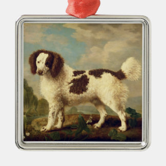 Brown and White Norfolk or Water Spaniel, 1778 (oi Silver-Colored Square Decoration