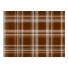 Brown and White Plaid Tartan Pattern Postcard
