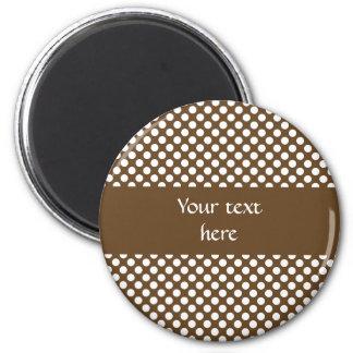 Brown and White Polka Dot Magnet